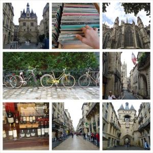 Varias imagenes que describen una pequeña parte de la gran ciudad patrimonio de la UNESCO, burdeos.